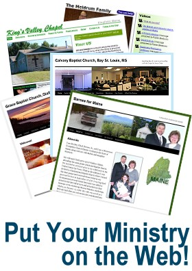 Professionally-built web sites for ministries